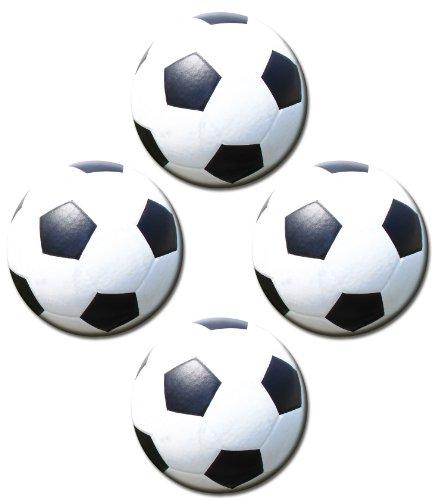 Kühlschrankmagnete Fußball 4er Set Sport-Bälle Ø 50 mm Kinder Magnete mit Motiv Fußbälle