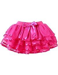 Happy Cherry - Falda Corta de Princesa con Capas de Tul Tutú de Ballet Tiered Skirt para Niñas