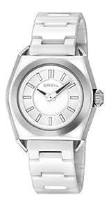 Breil Unisex Quartz Watch with White Dial Analogue Display and White Ceramic Bracelet TW0810