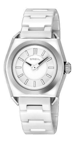 Breil TW0810 - Reloj analógico de cuarzo para mujer, correa de cerámica color blanco