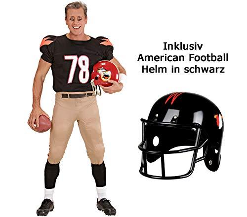 merican Football Star Gr. S-XL - Sportkostüm Männer - mit Helm - Football Team Outfit - Quarterback Kostüm (L 52/54) ()
