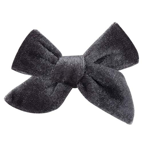 Auspiciousi 1 Stück Haarschmuck Solide Samt Haarbögen 3,5 Zoll Haarspangen Für Mädchen/Kinder Hairgrips Handgemachte Bow-Knot Clip Headwear