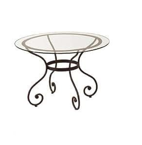 Matelpro-Table ronde fer forgé SYBILLE-Rouille-Diamètre 120 cm