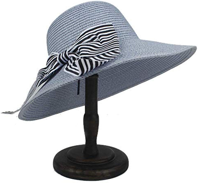 Yetta Home Cappello Sole - Cappello da Sole Cappello per Donna con Cappello  Bowknot Straw Boater dce6a118d10c
