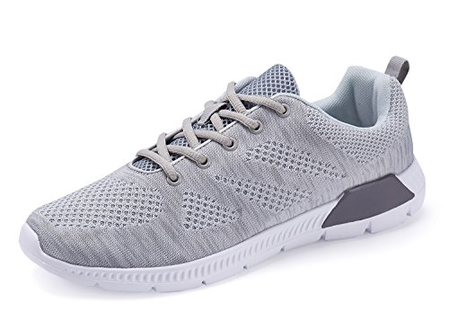 Scarpe Sportive Da Uomo Custome Leggere Sneakers Sportive In Maglia Grigie