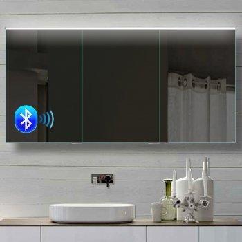 Spiegelschrank soft close mit Bluetooth Lautsprecher