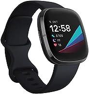 Fitbit Sense - fortschrittliche Gesundheits-Smartwatch mit Tools für Herzgesundheit, Stressmanagement & zu