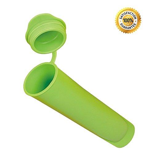 JSS riutilizzabile in silicone Ice Pop ghiaccioli Bambini Snack fai da te gelato Maker Stampi con coperchio taglia unica Green