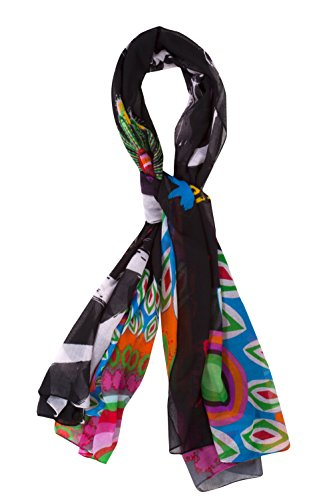 Desigual Women's Printed Shawl - Black - one size