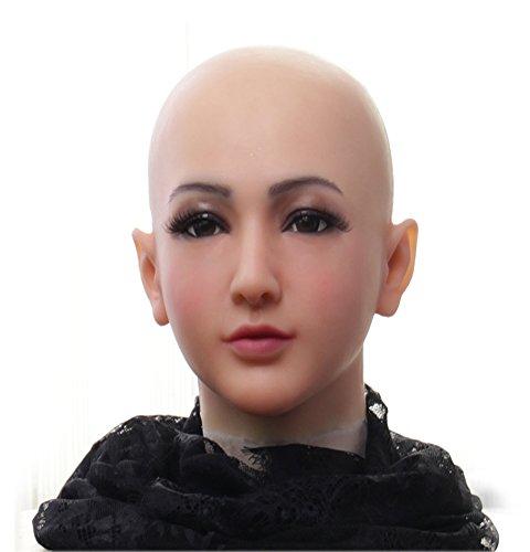 Ajusen Hübsche weibliche Masken Weibliche Maskerade Halloween Weihnachtsmasken Engels Gesicht Cosplay Männlich zu Weiblich für Crossdresser Transgender ()