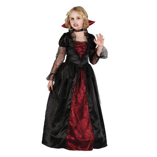 (L) Mädchen Vampir Prinzessin Halloween Kostüm für Kostüm Kinder Kinder groß Alter 8-10 jahre