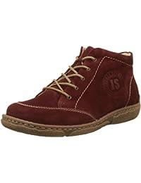 Josef Seibel - Zapatos de cordones de ante para mujer rojo rojo