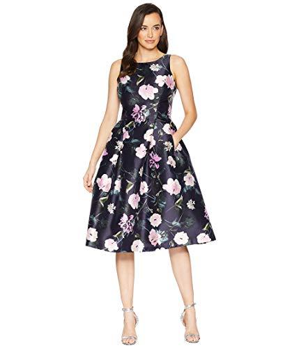 Tahari ASL Womens Printed Floral Fit & Flare Party Dress
