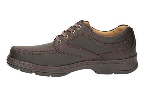 Clarks Star Stride 203256217060, Chaussures basses homme Marron (Cuir marron)