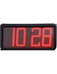 Reloj de Pared Digital con led de Alta Visibilidad para Interior y Exterior