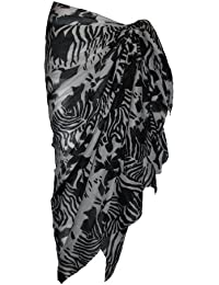 Black and White Mix Pattern Cotton Sarong