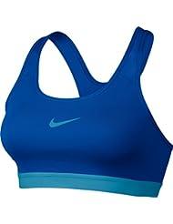 Nike Pro Clasc Pad Bra Updated Sujetador Deportivo, Mujer, Azul (Paramount Blue / Vivid Sky / Vivid Sky), S