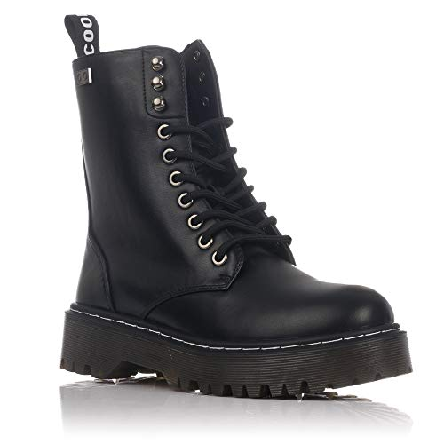 ca5f4903 COOLWAY Cardy, Botas Militares para Mujer, Negro (Black 000), 41 EU