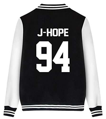 Monsters Hut Inc (ShallGood Mode bedruckt Unisex Baseball Jacket KPOP BTS Fans Suga Jin Jimin Jung Kook J-Jope V Rap Monster J-HOPE-94 Schwarz DE)