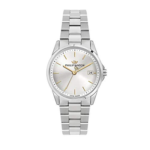 Philip Watch Women's Watch, Capetown Collection, Quartz Movement and Three Hands Version with Date, Equipped with a Stainless Steel Bracelet - R8253212504