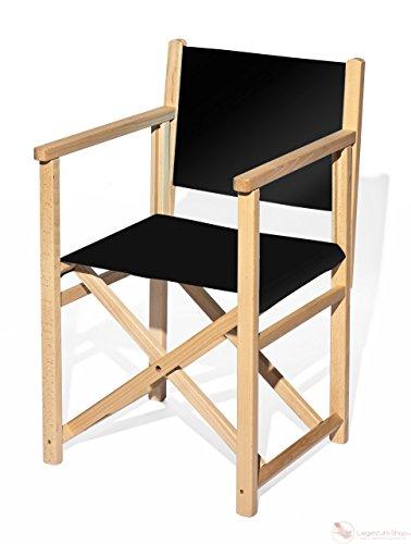 Regiestuhl, Holz, Stoffbezug Schwarz - FSC Zertifiziert
