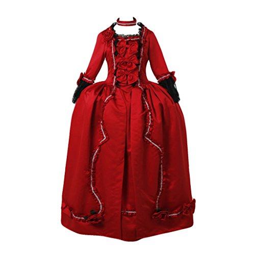 Kostüm Paket Fedex (Cosplayitem Frauen Elegante Mittelalterliche Rokoko Barocken Kleid Gothic Viktorianischen Kostüm Konzert Leistung Maskerade)