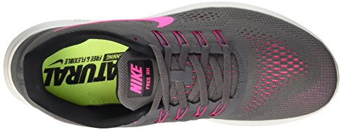 Nike 831509, Chaussures de Running Compétition Femme Gris (Dark Grey/Pink Blast/Black/Cool Grey)