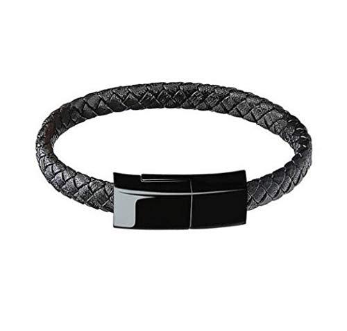 AJIAO USB-Armband Outdoor Tragbare Leder Mini Micro USB Armband Ladegerät Daten Ladekabel Synchronisationskabel Für Iphone6   6S Telefonkabel (Outdoor-telefonkabel)