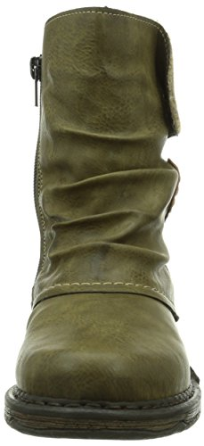 Rieker Z9980-54, Stivali altezza metà polpaccio Donna Verde (Grün (schilf/kastanie/wood / 54))
