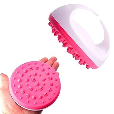 Hunpta Hand Bad Dusche Anti Cellulite Ganzkörper Massage Pinsel Abnehmen Schönheit (Hot Pink)