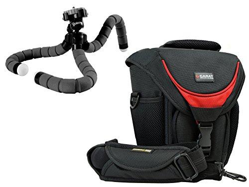 Foto Kamera Tasche Halfter Professional TOUGH mit SNIPER Gurt im Set mit Flexi Reisetativ Rollei Monkey