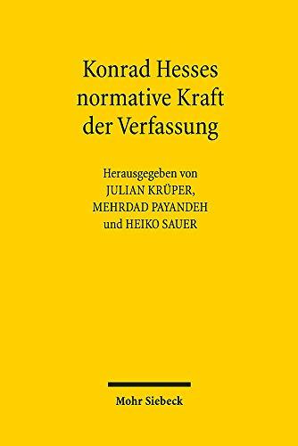 Konrad Hesses normative Kraft der Verfassung