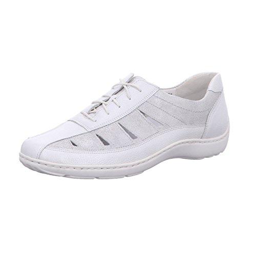 Waldläufer 496020209/211, Chaussures de Ville à Lacets Pour Femme Silber