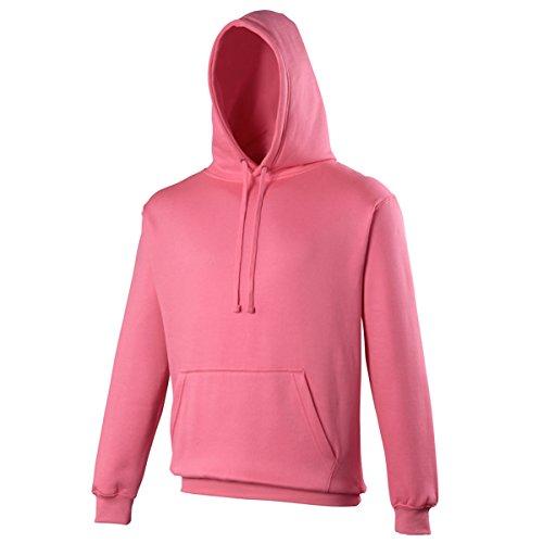 Electric hoodie Electric AWDis Hoods Streetwear Felpa Cappuccio Uomo Electric Pink