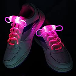 Luz de cordones LED intermitente hasta cordones con 3modos, en 5colores (Rojo)