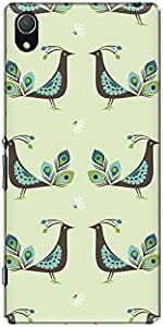 The Racoon Lean printed designer hard back mobile phone case cover for Sony Xperia Z2. (Green Peac)