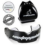 Unstoppable Mundschutz|Allrounder|Kampfsport|Zahnschutz|E-Book|Box + Anleitung Designed in Germany