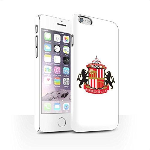 Offiziell Sunderland AFC Hülle / Matte Snap-On Case für Apple iPhone 6S / Pack 6pcs Muster / SAFC Fußball Crest Kollektion Weiß