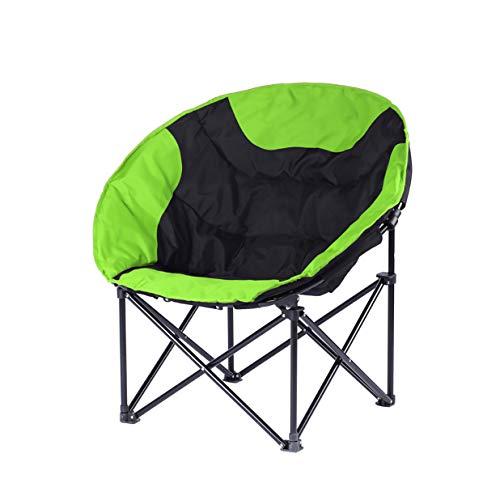 FH Chaise Pliante, Forte Portative Chaise De Plage Portable Pêche Tabouret De Pêche Chaise De Camping Barbecue 50 × 50 × 80 Cm, Sélection Multicolore (Couleur : Grass green)