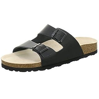 AFS Shoes 3100 Comfortable Men Mules Leather Black Size: 15
