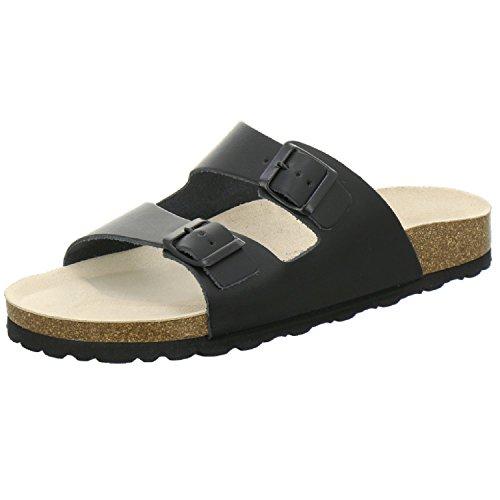 AFS-Schuhe 3100 Bequeme Leder Pantolette für Herren, Hausschuhe Arbeitsschuhe Größe 42 schwarz Glattleder