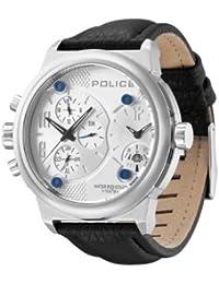 Police P12739JIS-04 - Reloj analógico de cuarzo para hombre con correa de piel, color negro