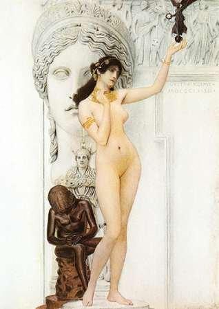 Feelingathome- imprimer-sur-toile-100%coton-AllŽgorie-de-la-Sculpture-1889-cm48x33-affiche-reproduction-gravure-