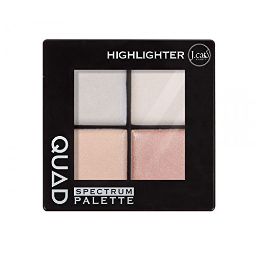 (3 Pack) J. CAT BEAUTY Quad Spectrum Palette - Highlighter - Quad Bronzer