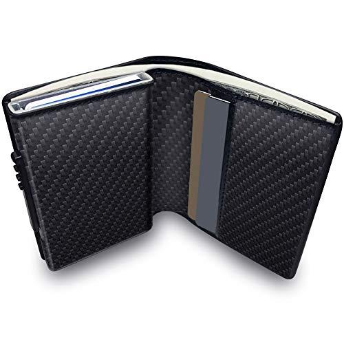 """""""¿Todavía usas esa billetera de gran tamaño?  La Cartera KOOGOO Card está disponible en 5 colores: negro, marrón, albaricoque, cocodrilo negro y rayas negras.  Mantenga su seguridad privada Nuestro titular de la tarjeta de crédito está equipado con t..."""