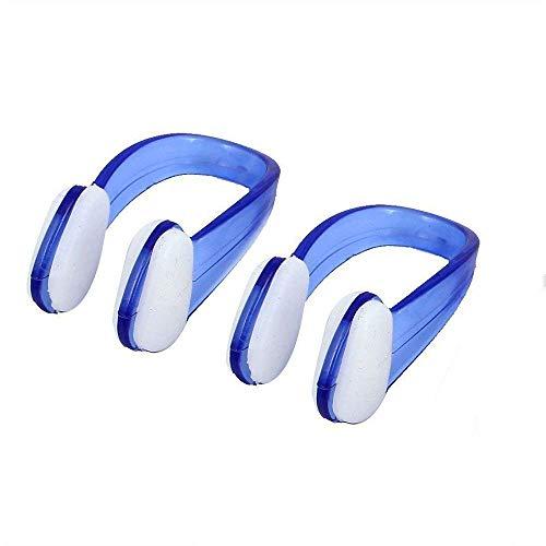 Ogquaton Schwimmer Silikon Nasenclip Wasserdichte Schwimmen Nasenschutz Schwimm Nose Clamp für Erwachsene Schwimmer Kinder Tauchen 2 Stücke Blau