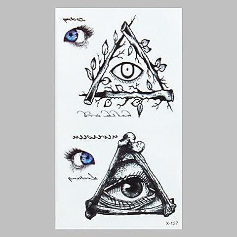 HJLWST® autoadesivi impermeabili del tatuaggio del tatuaggio di modo (Diamante Dell'elefante Collana)