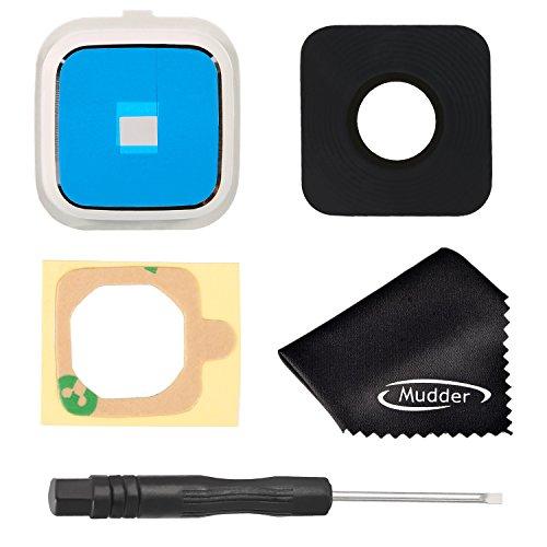 Mudder Rear Kamera Glas Linse Cover Ring Seite hinten Kamera Linse Decken + Schraubendreher + Reinigungstuch für Samsung Galaxy Note 4N910N910a, n910V, n910t, n910p, n910r4(weiß)