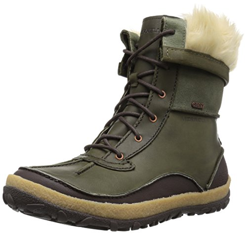 Merrell Women's Tremblant Mid Polar Waterproof Snow Boot, Dusty Olive, 10 M US -