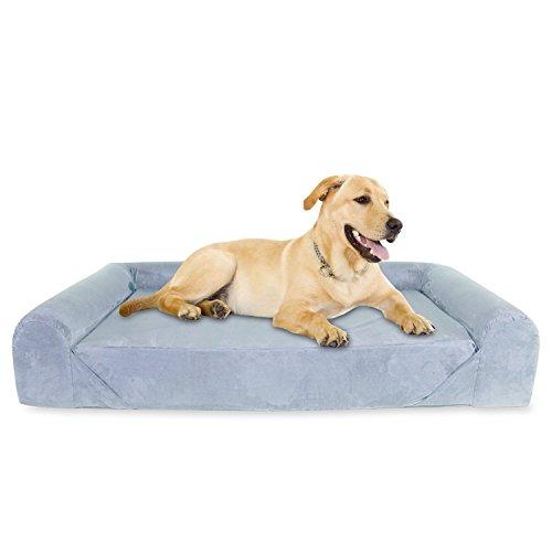 KOPEKS Sofa Cama para Perro Extra Grande Estilo Lounge Perros Mascotas X...